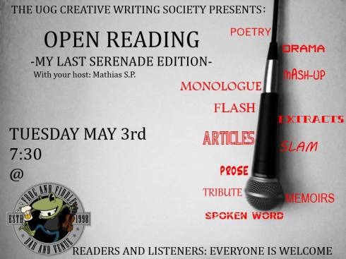 open reading my last seranade